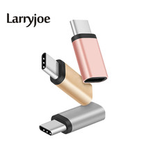 Larryjoe New USB 3.1 Type-C male to Micro B USB 2.0 Female Adapter Converter for Nokia N1 one plus 2 LETV Le1 Pro Max(China)