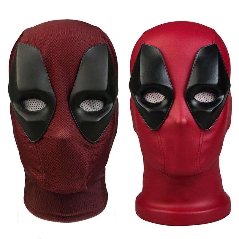 Deadpool 2 Cosplay Mask Wade Wilson Deadpool Mask Cosplay Costume Props Full Head Superhero Red Mask Halloween Accessories
