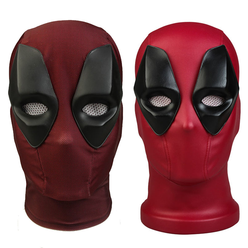 Deadpool 2 Cosplay Mask Wade Wilson Deadpool Mask Cosplay Costume Props Full Head Superhero Red Mask Halloween Accessories