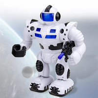 2016 New Kids Electronic Toy Walking Robot Hand Moving Girls Boys with Colorful Lights and Misic Classic Dolls For Baby Gifts