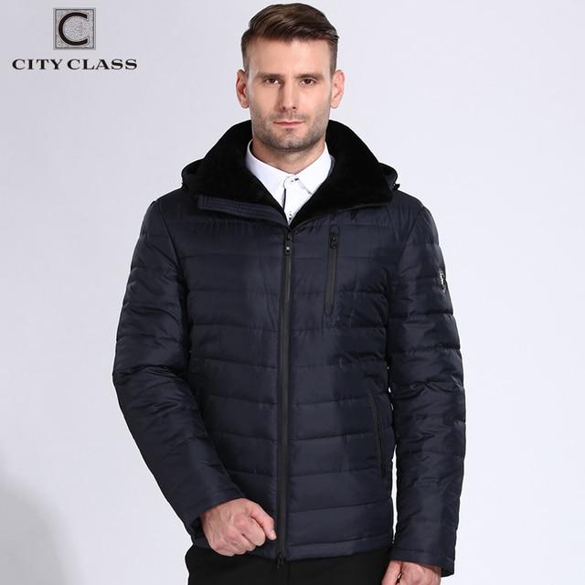Город класса Куртки Для мужчин зимние пальто шапка Съемная теплой овечьей Меховая куртка повседневная био Подпушка мягкий jaqueta masculina Inverno 808-16