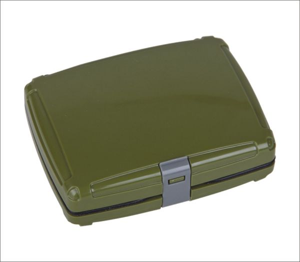 Aventik Plastic Waterproof Fly Fishing  Box Quick Open Fly Boxes 4.0x3.2x1.3 inch (102x82x32mm) enlarge