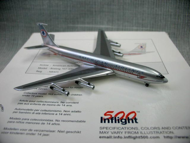 цена на Out of print IF500 1: 500 American Airlines Boeing 707-300 5h-mog Alloy Aircraft Model 5h-mog Rare collection model