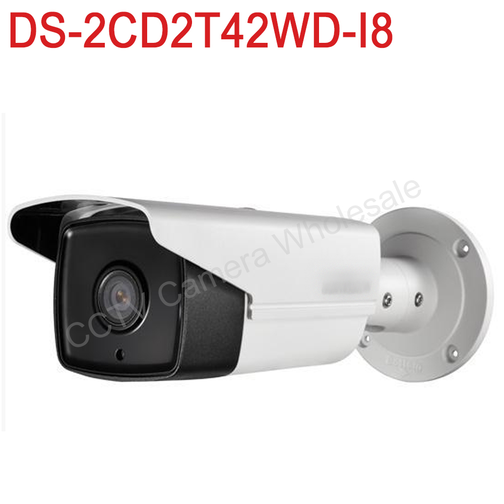 In Stock DS-2CD2T42WD-I8 international English version 4MP EXIR Network Bullet IP security Camera POE, 80m IR, 120dB WDR, H.264+