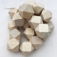 Hot Sale Unfinished Wooden Beads Geometric Solid Beads Fine Quality Diy Handmade Toys Christmas Decoration Jewerly 200PCS/LOT