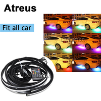Atreus 1Set Car Cool LED Lamp RGB Flash light Styling For VW BMW E46 E36 Audi Mercedes Opel Ford Jeep Renault Volvo accessories