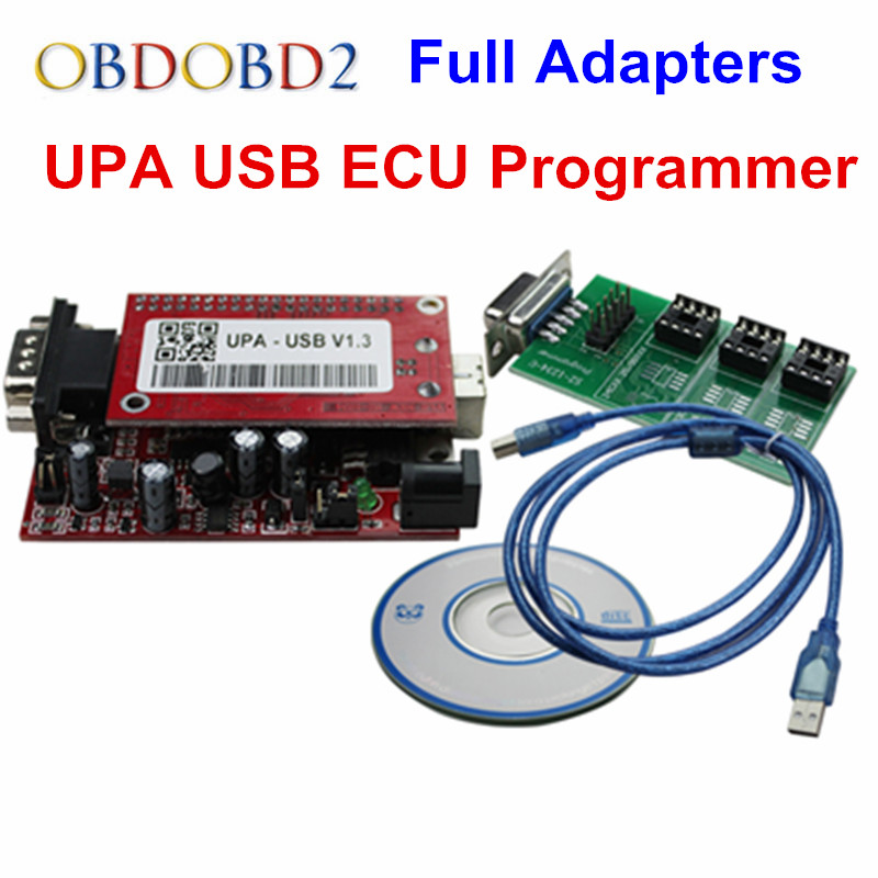 UPA USB Programmer V1.3 With Full Adapters UPA USB V1.3 ECU Chip Tuning Tool UPA ECU Programmer Serial Programmer the best quality update version super upa usb programmer with full adapters hot selling