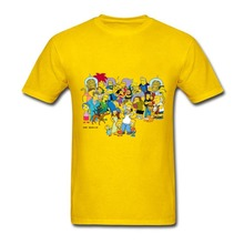 The Simpson Funny Short Tee Shirt 100% Cotton Men's Tees Design New Arrival Man Custom Printed T Shirts