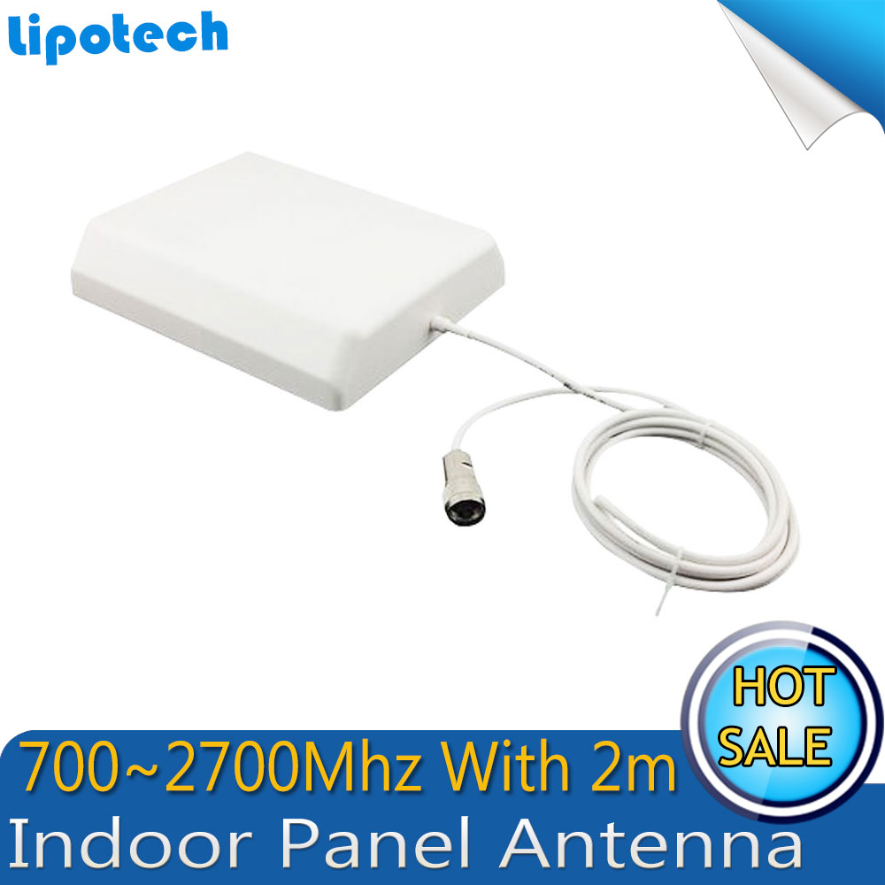 Indoor Panel Antenna High Gain 700-2700Mhz With 2m Cable GSM 2G 3G 4G Antenna External Antenna For Mobile Phone Signal Booster