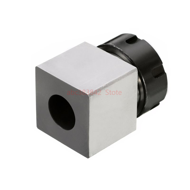 Image 2 - 1pcs square ER32 ER25 ER40 chuck block hard steel spring chuck seat, suitable for CNC lathe engraving and cutting machine-in Tool Holder from Tools