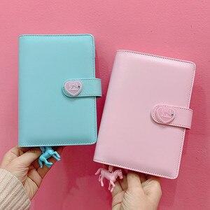 Image 5 - DIY Notebook Planer Kawaii 저널 소녀의 일기 주최자 다채로운 책 노트 학생 일일 주간 계획 편지지 선물