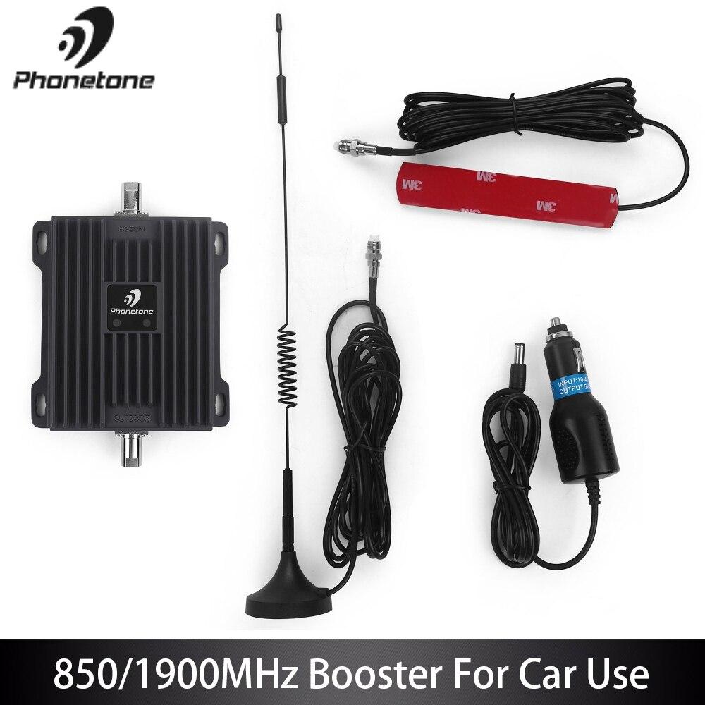Мобильный усилитель сигнала для использования в автомобиле 2G 3g 850/1900 MHz усилитель сигнала 3g ретранслятор усилитель сигнала сотового телефон