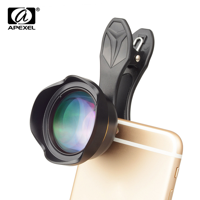 APEXEL Universal 3x telephoto Zoom Phone Lens Tele Camera Lens Kit 65MM lens For iPhone 7 8 Plus Samsung Mobile Phones APL-65MM