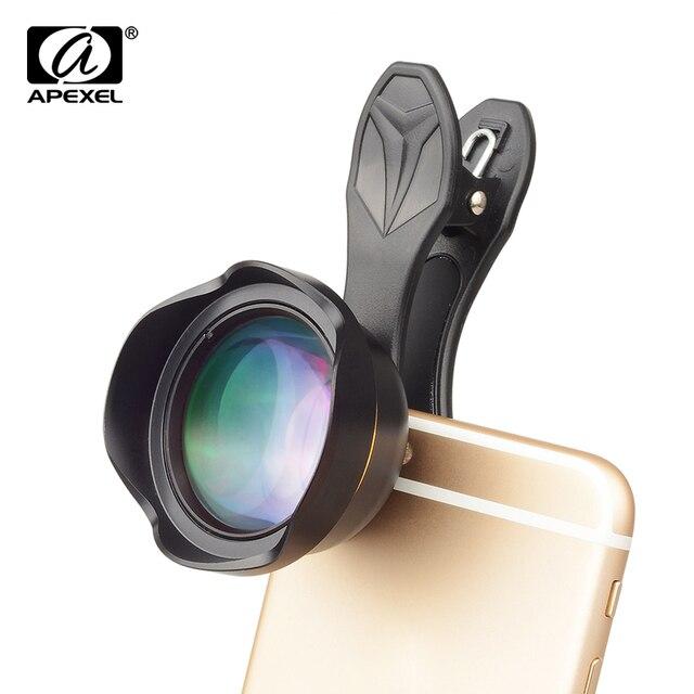 APEXEL Universal 3x telephoto Zoom Phone Lens Tele Camera Lens Kit 65MM lens For iPhone 7 8 Plus Samsung Mobile Phones APL-65MM