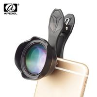 APEXEL Universal 3x telephoto Zoom Phone Lens Tele Camera Lens Kit 65MM lens For iPhone 7 8 Plus Samsung Mobile Phones APL 65MM