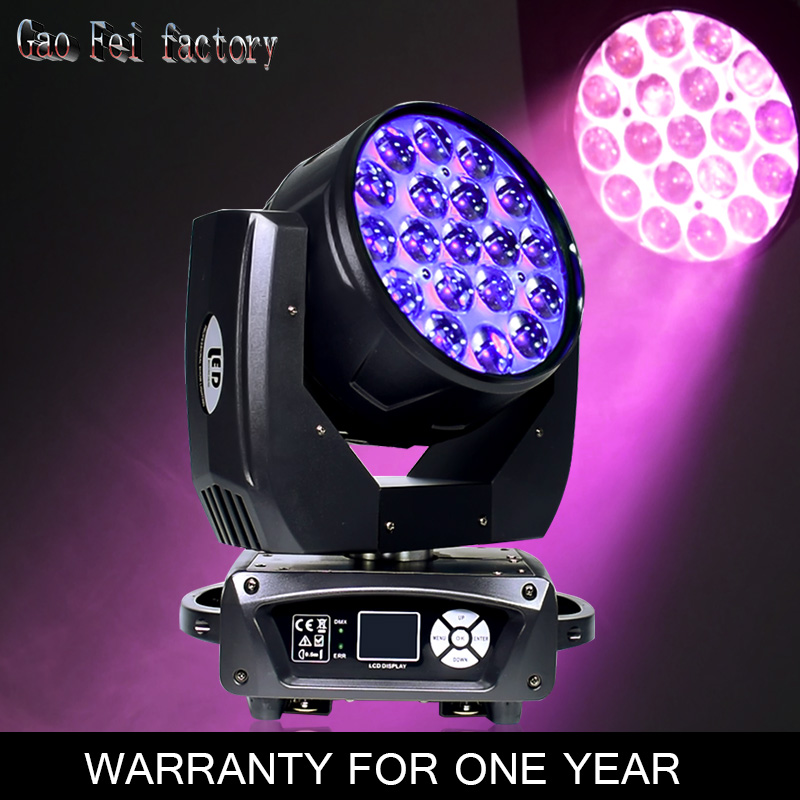 19X15W LED zoom moving head light RGBW Wash Effcect for Dj light