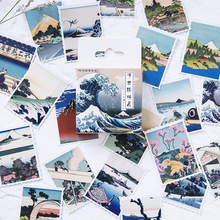 46PCS/PACK Kawaii Drawing Mountain Sea Tree Sticker Marker Planner Diary Stationery Stickers Scrapbooking Bullet Journal sl1483
