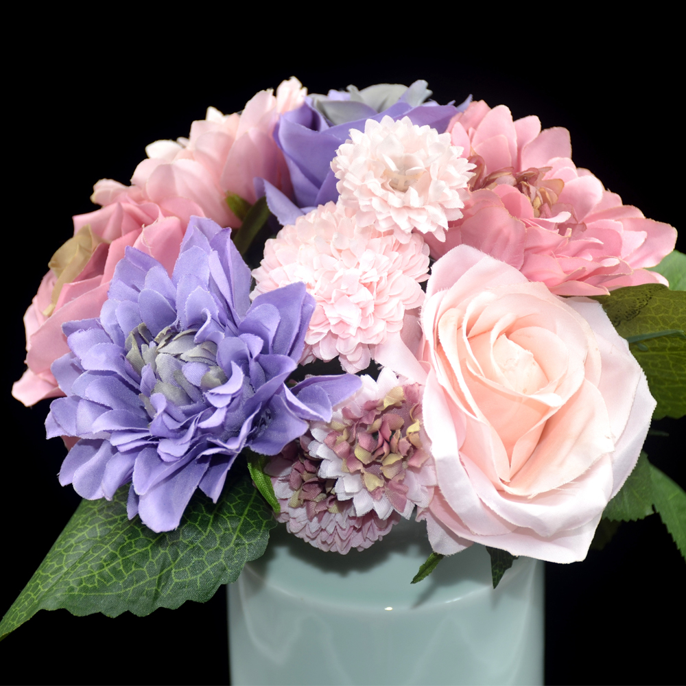 artificial flowers for wedding bouquets silk flower wedding bouquet roses dahlias artificial 1378