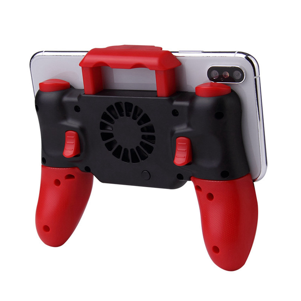Mobile Phone PUBG Gamepad Bluetooth Heat Dissipation Cooling Fan For iphone IOS Phones Game Joystick Controller Built-in 800mAh