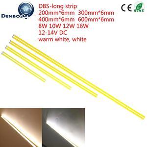 Image 2 - 10PCS 12v LED COB Streifen 200mm 300mm 400mm 500mm 600mm flexible Streifen Bar lichter Warm Weiß für auto Outdoor licht cob led rohre