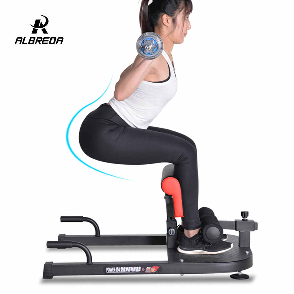 ALBREDA Multifunctional body-building equipment Sit up board device Waist training Hips and squatting trainer for home sports