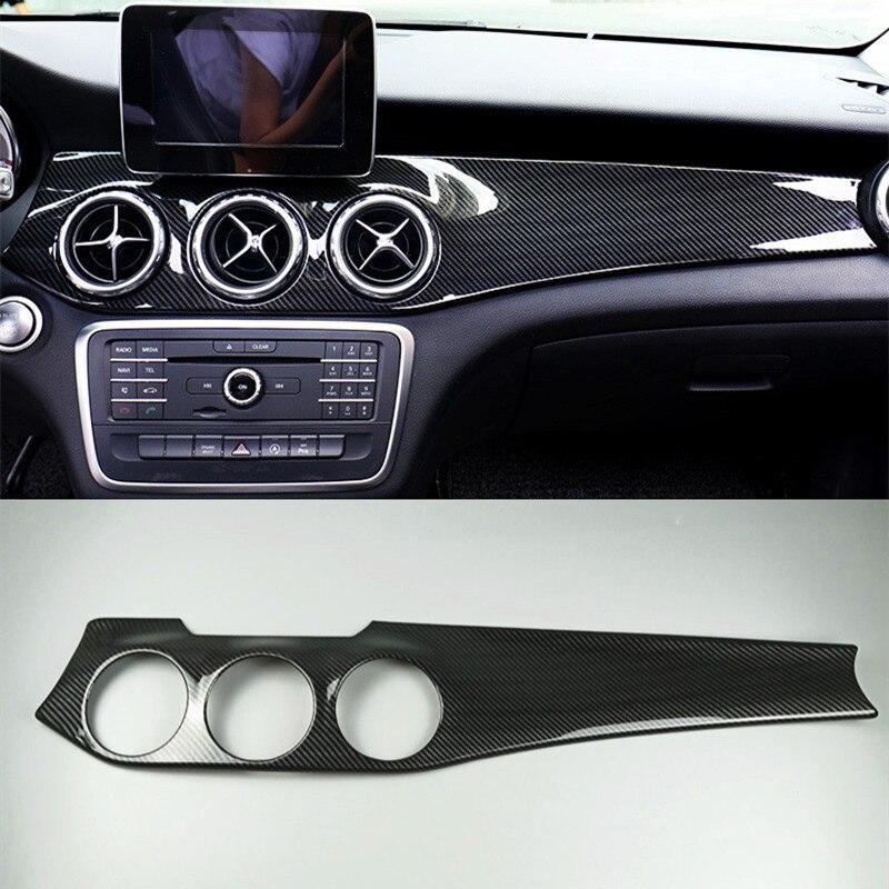Fibre de carbone couleur Console centrale tableau de bord panneau décoration couverture garniture pour Mercedes Benz GLA X156 CLA C117 LHD 2013-2018