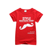 Nueva marca de bebé niño chico rojo Camiseta de algodón de manga corta Camiseta Tee superior niños casuales ropa de verano ropa de 2-8Y niños Tops
