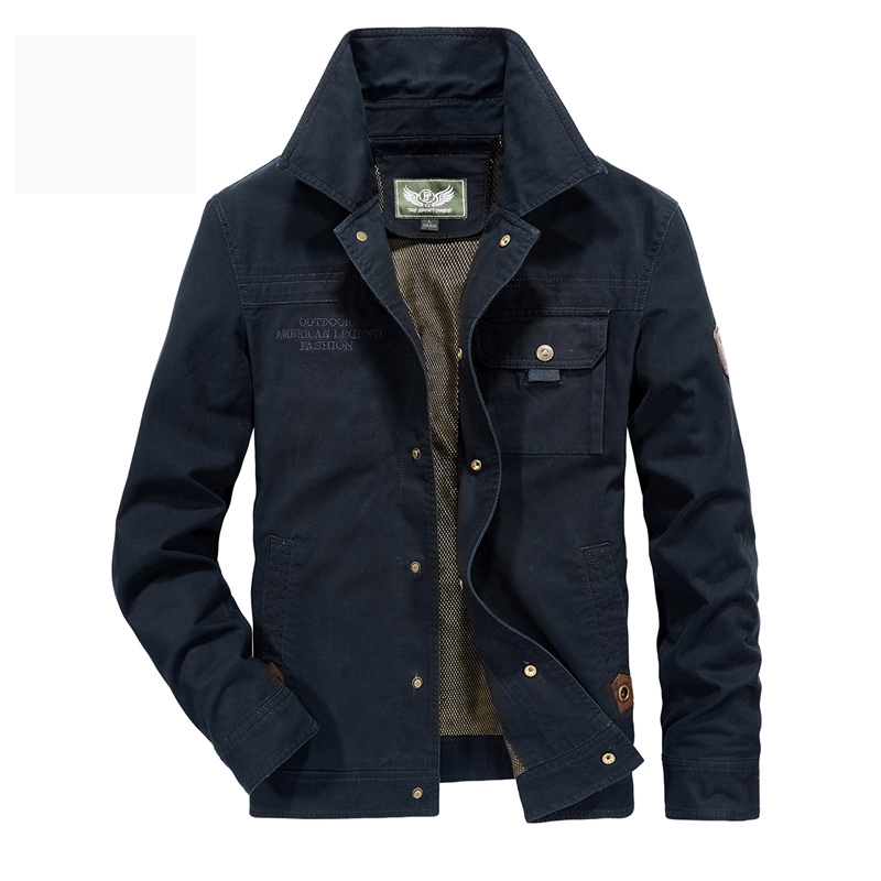 AFS JEEP chaqueta hombres militar abrigo sólido hombre otoño chaqueta Casaco Masculino Casual marca chaquetas hombres Outwear más talla 5XL 6XL-in Chaquetas from Ropa de hombre    2