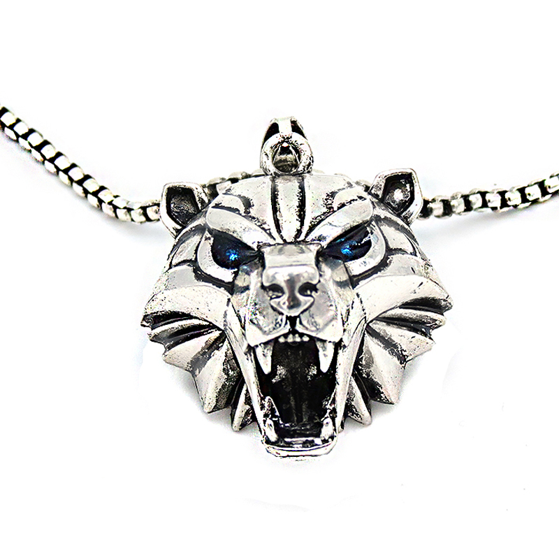 witcher books series Bear head medallion witcher school polar bear monster hunter cosplay medallion grizzly pendant necklace