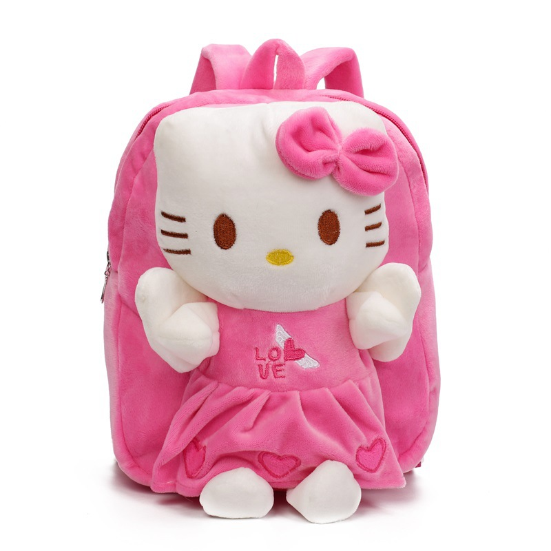 Childrens Gift Kindergarten Girls Boys Backpack Cartoon Plush Baby School bags Kids Schoolbag With Cute Dolls Toy For 2-5 Years