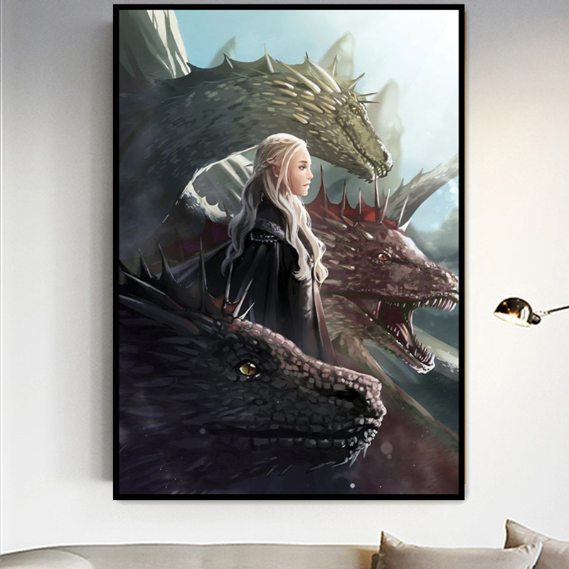 Full Square Drill Game Of Thrones Diamond Painting 5D DIY Embroidery Special Diamond Accessories Cross Stitch Wall Decor in Diamond Painting Cross Stitch from Home Garden