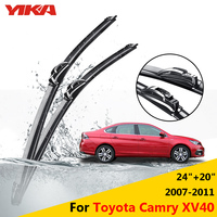 YIKA Windscreen Wipers Car Glass Rubber Wiper Blades For Toyota Camry XV40 24 20 Fit Hook