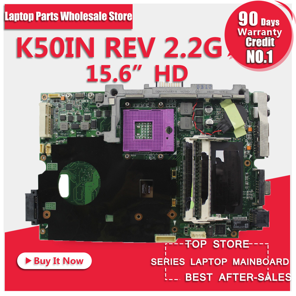 Best quality K50IN k40IN laptop motherboard for ASUS X8AIN,X5DIN,K40IN100% tested with free shipping free shipping the laptop motherboard for asus k75d k75de qml70 la 8371p test good