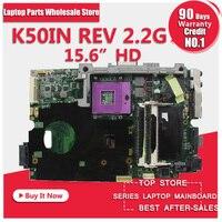 En iyi kalite K50IN k40IN laptop anakart asus X8AIN, X5DIN, K40IN100 % test ücretsiz kargo ile