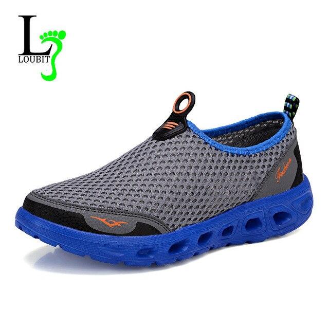 Мужчины Обувь 2017 Модный Бренд Сетки Обувь Высокого Качества Дышащий Поскользнуться на Лето Повседневная Обувь