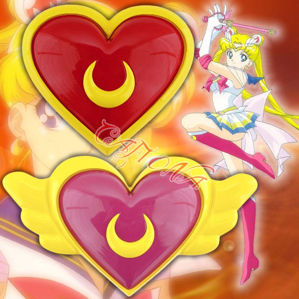 Sailor Moon Super S Cosplay Sailor Venus Aino Minako Yellow Heart Shaped Brooch