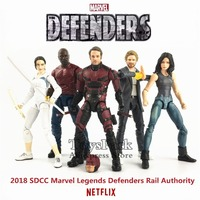 Marvel Legends SDCC 2018 Defenders Rail Authority 6 TV Action Figure Matt Murdock Jessica Luke Cage Iron Fist Colleen Wing Toys