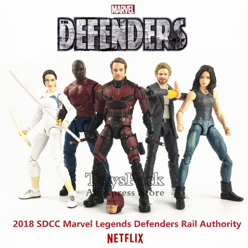 Marvel Legends SDCC 2018 Defenders Rail Authority 6 Action Figure Netflix TV Daredevil Luke Cage Iron Fist Colleen Wing Toy forest defenders