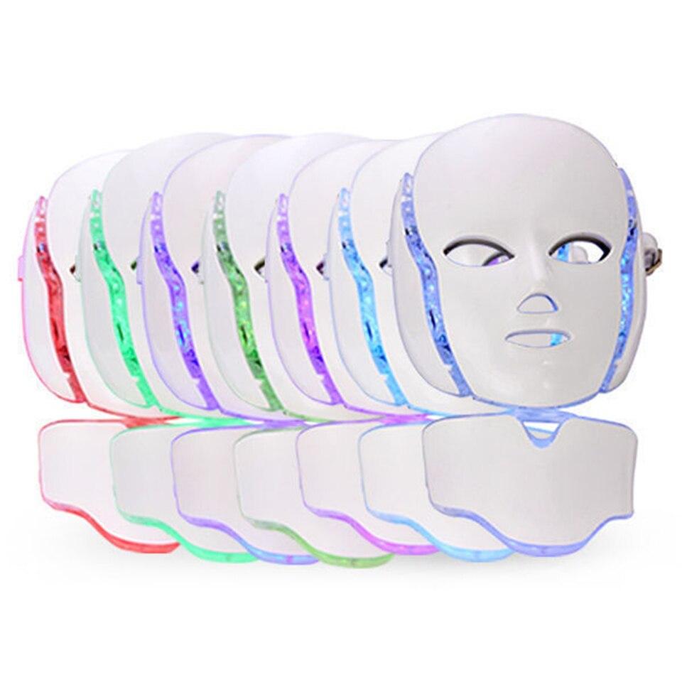 NEW Photon LED Facial&Neck Mask Skin Rejuvenation Treatment Beauty Mask Facial Mask EMS Free Shipping anti acne pigment removal photon led light therapy facial beauty salon skin care treatment massager machine