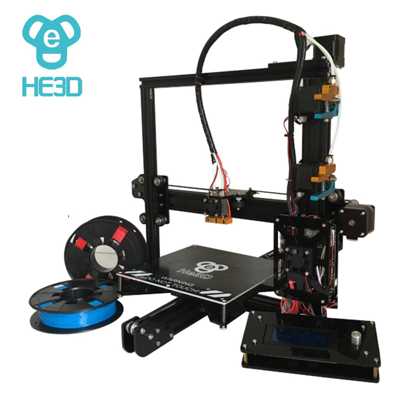dual E3D nozzle_auto level_large printing size  200*280*200   prusa i3 HE3D DIY 3d printer kit  reprap