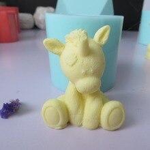 PRZY Mol Silicone Mold Fondant Mould Cute 3d Unicor