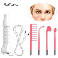 4in1 High Frequency Electrotherapy Instrument Facial Skin Care Facial Spa Salon Acne Therapy Device High Frequency Remover
