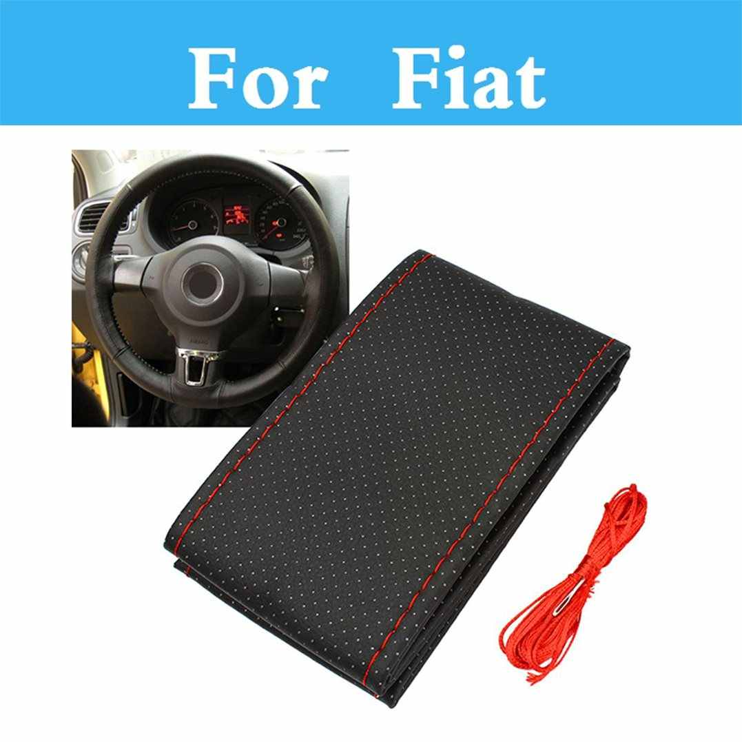 Auto Styling  Diy Car Steering Wheel Cover With Needles And Thread Artificial For Fiat Seicento Siena Stilo Palio Panda Sedici