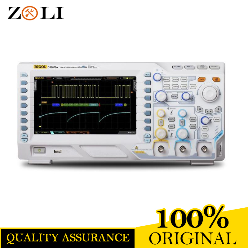 Rigol DS2072A Oscilloscope 70MHz 2Channels 2GSa/s Memory Depth 14Mpts 8 Inches TFT LCD USB DS 2072A Good quality &Price