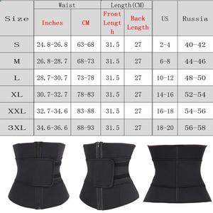 Image 5 - מאהב יופי בטן חגורה גבוהה דחיסת רוכסן בתוספת גודל Neoprene מותן Cincher 7 פלדת מחוך גוף זיעה מותניים מאמן