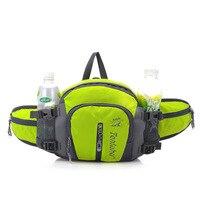 12L Unisex Waterproof Nylon Running Waist Bags with Bottle of Water Women Running Waist Belt Tactical Sport Bag for girl bicycle