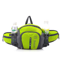 12L Unisex Waterproof Nylon Running Waist Bags with Bottle of Water Women Running Waist Belt Tactical Sport Bag for girl bicycle
