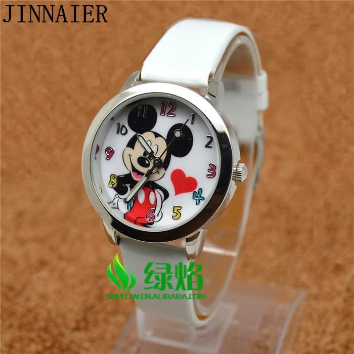 10pcs/lot Wholesales Hot Sales 5colors 3D Cartoon Students Kids Boys Girls Gifts Quartz Watch Small Leather Wristwatch
