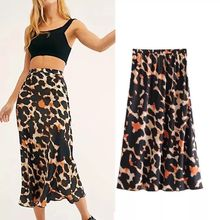 skirts leopard casual streetwear skirt womens clothes harajuku 80s costumes women 2019 summer music festival clothing gothic