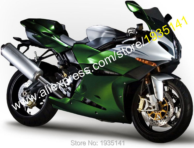 Hot Sales,For Benelli ABS Parts 04-13 Tornad Tre 1130 900 2004-2013 Green Silver Bodywork Aftermarket Sportbike Fairings Kits